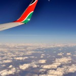 Flying over southern Kenya looking East